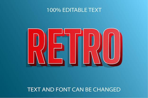 Retro edytowalny efekt tekstowy styl retro