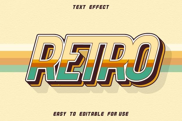 Retro edytowalny efekt tekstowy wytłoczony styl retro