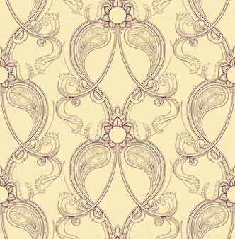 Retro fioletowy wzór