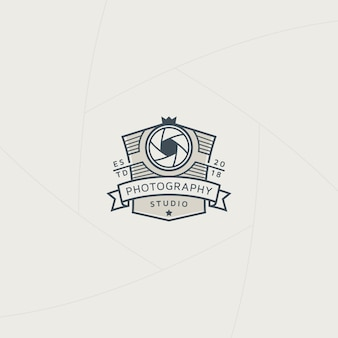 Retro fotografia odznaka lub etykieta