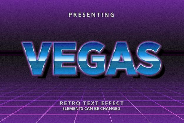 Retro futurystyczny edytowalny efekt tekstowy