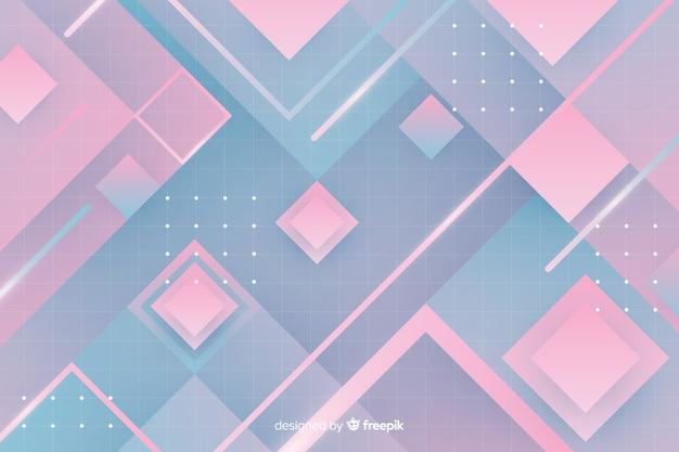 Retro geometryczne jasnym tle
