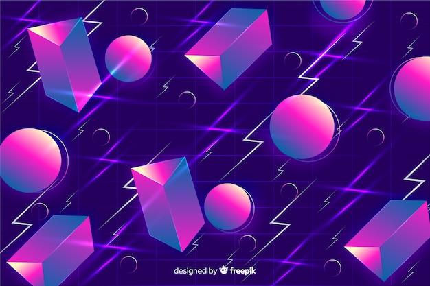 Retro geometryczne kształty tła