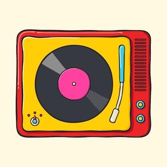 Retro gramofon przenośny