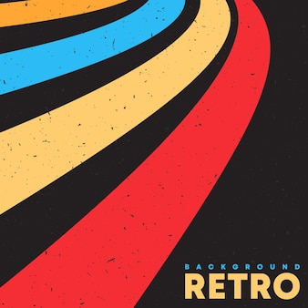 Retro grunge tekstury tło z rocznika kolorowe paski. ilustracja wektorowa.