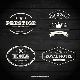 Retro hotelowe odznaki kolekcji