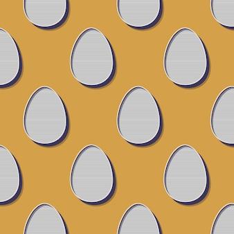 Retro ilustracja wzór jajko wielkanocne na tło wakacje. obraz w stylu kreatywnym i vintage