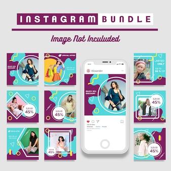 Retro instagram post fashion template