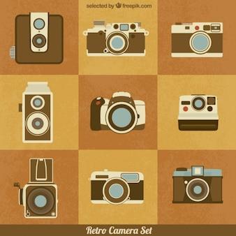 Retro kamera ustaw