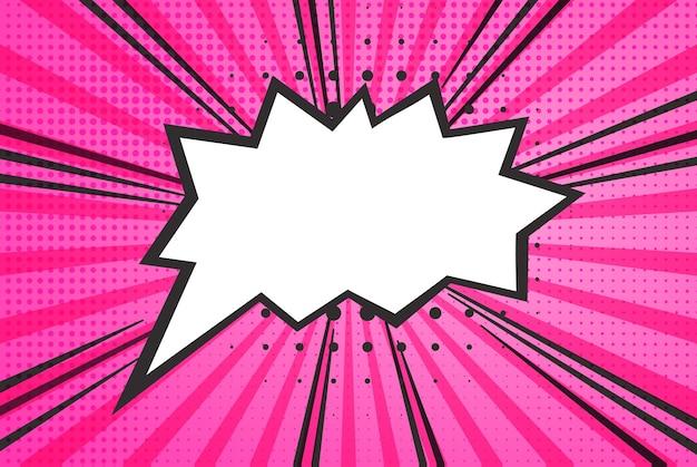 Retro komiks pusty dymek na kolorowym tle, styl pop-art