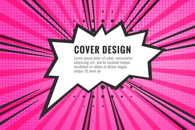 Retro komiks pusty dymek na kolorowym tle vintage design w stylu pop-art