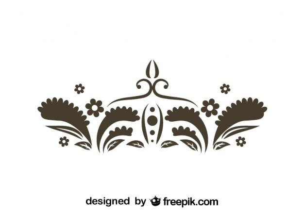 Retro kwiatowy element graficzny