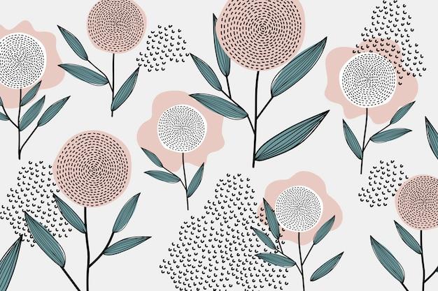 Retro kwiatowy wzór