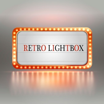 Retro lightbox.