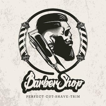 Retro logo dla zakładów fryzjerskich