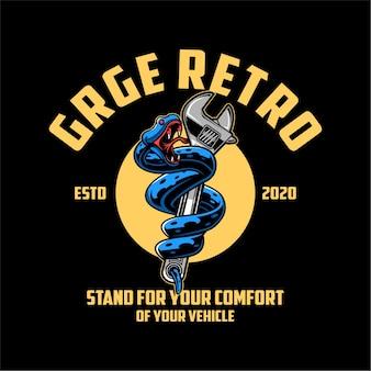 Retro logo garażu