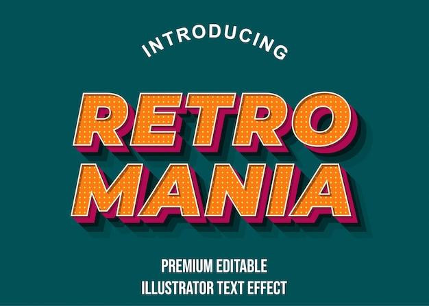Retro mania pomarańczowy różowy efekt wyświetlania tekstu