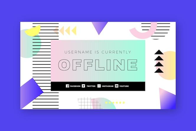 Retro memphis twitch szablon transparent offline