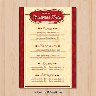 Retro menu świąteczne