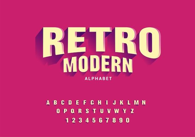 Retro nowoczesne czcionki alfabetu.