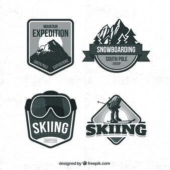Retro odznaki narciarskie