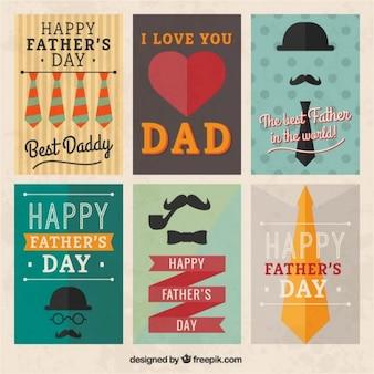 Retro ojcowie dzień plakaty