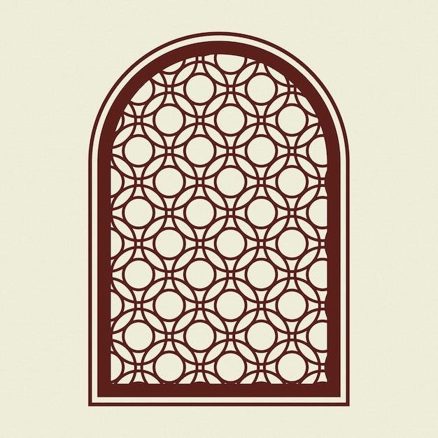 Retro okno logo firmy ilustracja tożsamości korporacyjnej