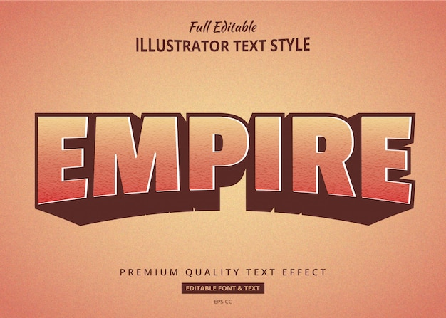 Retro old texture 3d text style effect