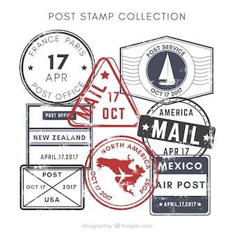 Retro pieczęć znaczków pocztowych
