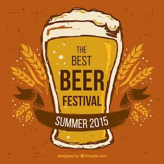Retro plakat festiwalu piwa