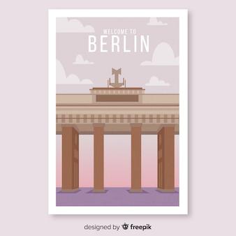 Retro plakat promocyjny szablonu berlina