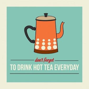 Retro plakat z czajnika