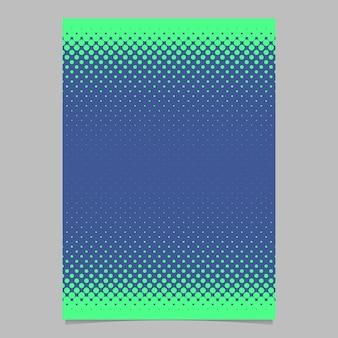 Retro półtonów wzór kropki wzór szablon ulotki - dokument wektor, grafika broszury z kręgów