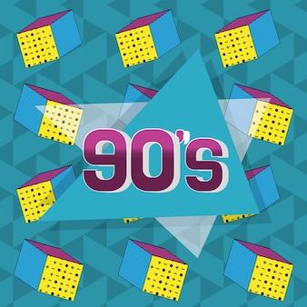 Retro projekt karty z lat 90