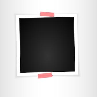Retro ramka na zdjęcia z cieniami. ilustracja.