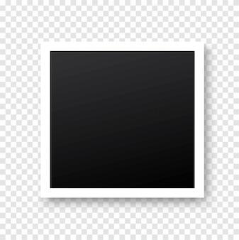 Retro realistyczna ramka na zdjęcia z cieniem