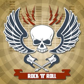 Retro rockowy tło