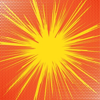 Retro starburst tło