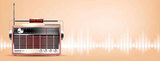 Retro stary baner radiowy