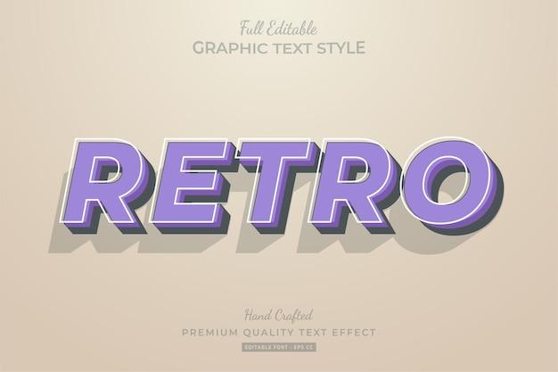 Retro stary fioletowy efekt edycji tekstu