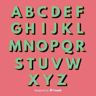 Retro styl retro szablon alfabetu