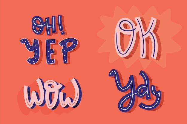 Retro styl wyrażeń literowych i onomatopeja