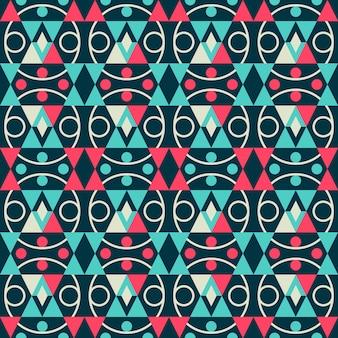 Retro stylowy abstrakcjonistyczny geometryczny barwiony bezszwowy wzór.