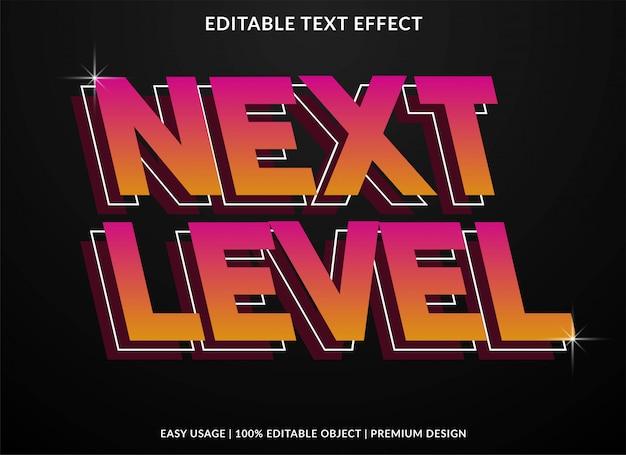 Retro tekstowy efekt następnego poziomu