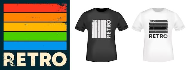 Retro typografia na t-shirt w stylu vintage, znaczek, nadruk tee, aplikację, slogan modowy, odznakę, odzież etykietową, dżinsy lub inne produkty poligraficzne. ilustracja wektorowa.
