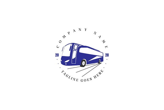 Retro vintage bus samochód transport transport logo design vector