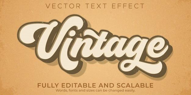 Retro, vintage efekt tekstowy, edytowalny styl tekstu z lat 70-tych i 80-tych