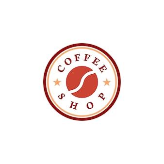 Retro wektor logo kawiarni