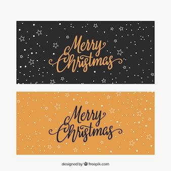 Retro wesołych świąt transparenty
