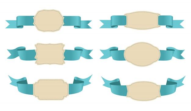 Retro wstążki i etykiety